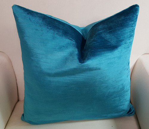 Velvet CorduroyThrow Pillow, Ocean
