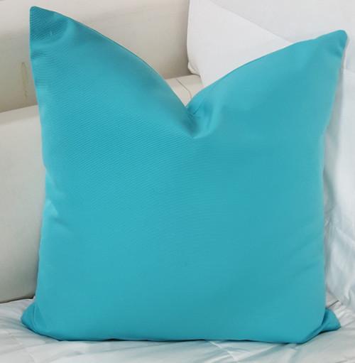 Outdoor Pool Throw Pillow, Turquoise
