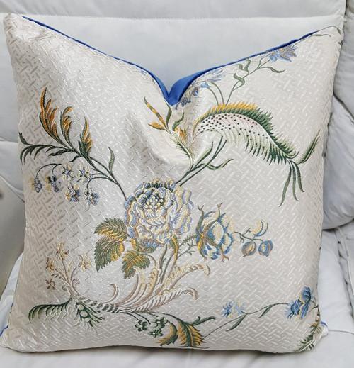 Silk Floral Throw Pillow