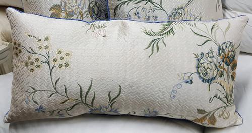 Silk Floral Lumbar Pillow