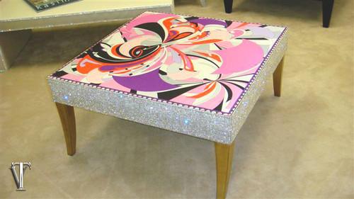 Luxury Coffee table Glasstop, The Belgravia