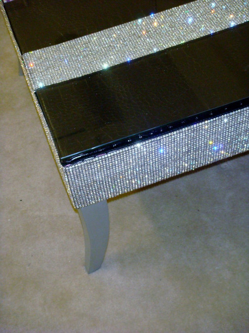 Diamante' Coffee Table in Faux Leather Crock Designed by Thundersley Home Essentials 212 889 1917
