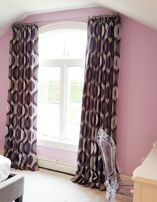 Purple Curtains for Teenager girls bedroom