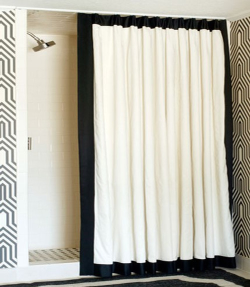 Shower Curtain with border Unlined
