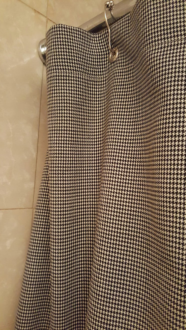 Hounds Tooth Shower Curtain, Unlined
