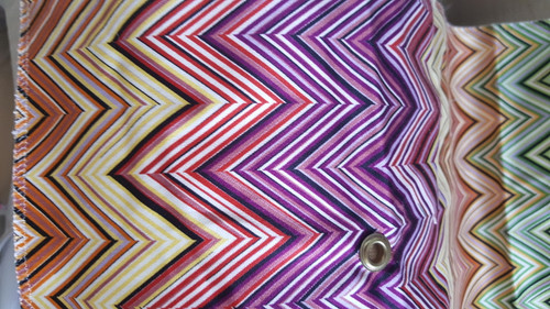 Missoni Jarris Purple/Caramel/Green/Blue multi Shower Curtain