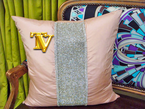 Luxury Throw Pillow,  Belgravia Diamante Bling