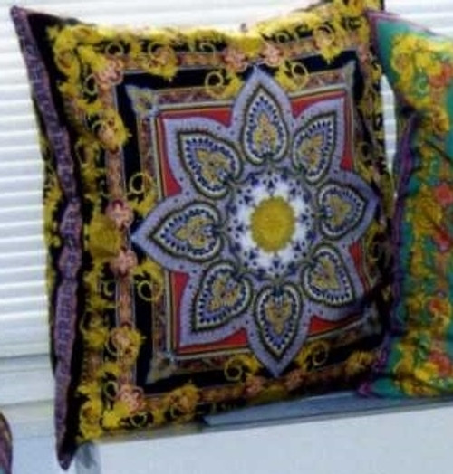Couture Throw Pillows by Thundersley Home Essentials using a Vintage Silk Baroque Fabric designed by Gianni Versace, Super fabulous! 212 889 1917