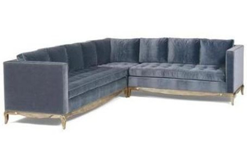 Delmonaco Sectional  Sofa Designed by Nancy Corzine available through Thundersley Home Essentials Inc. 212 889 1917