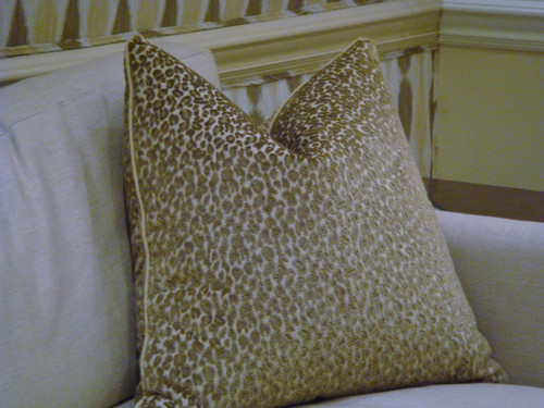 Leopard Throw Pillow, 22 x 22 Color Stone