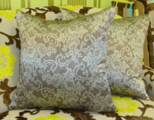 Valentino Lace Print Throw Pillow