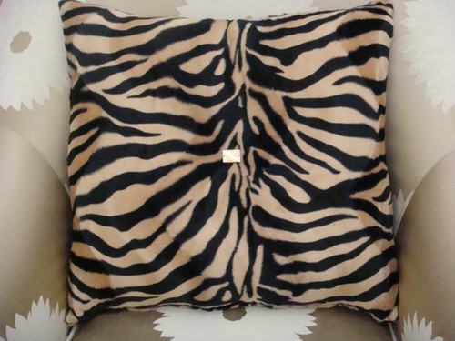 Zebra bling pillow Beige and Black