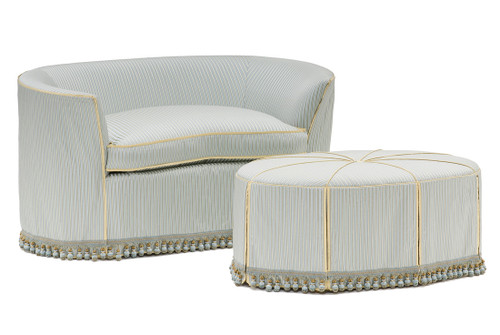 Champagne French Tub Sofa ...Cream with Ivory Finish