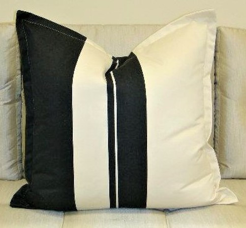 Hampton Wide Stripe Throw Pillow with Flange