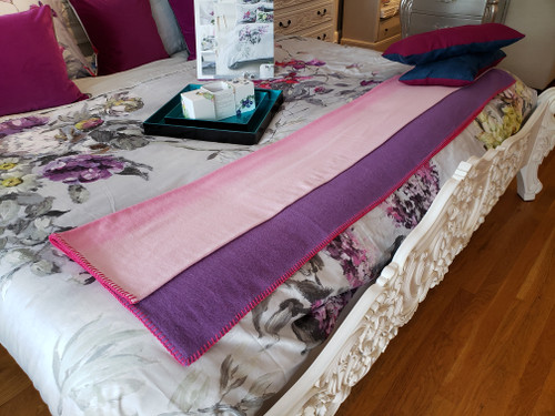 Pink and White Cashmere throw