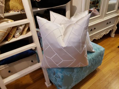Diagonal Throw Pillow, Silver