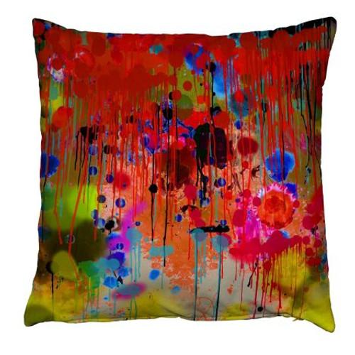 Graffiti Drips Throw Pillow