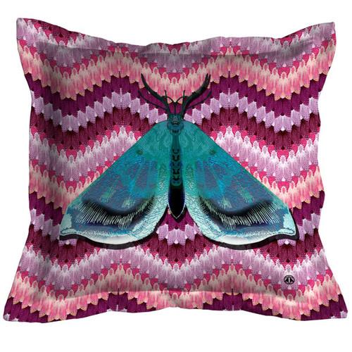 Bell Moth Throw Pillow, Pink