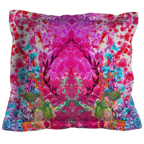 Omni Splatt Throw Pillow, Pink