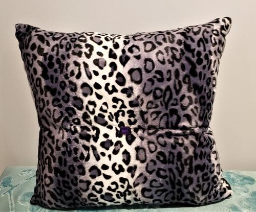 Cheetah Bling Throw Pillow, Mauve & White