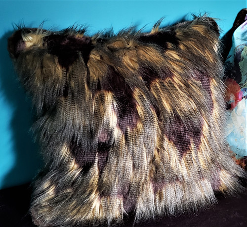 Yak Throw Pillow, Brown And Gold