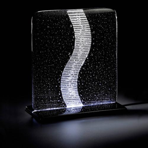 Wave Table Lamp, Modern Crystal Light