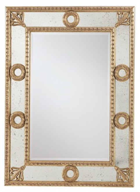 Luxury Mirrored Mirror, Antiqued ON SALE