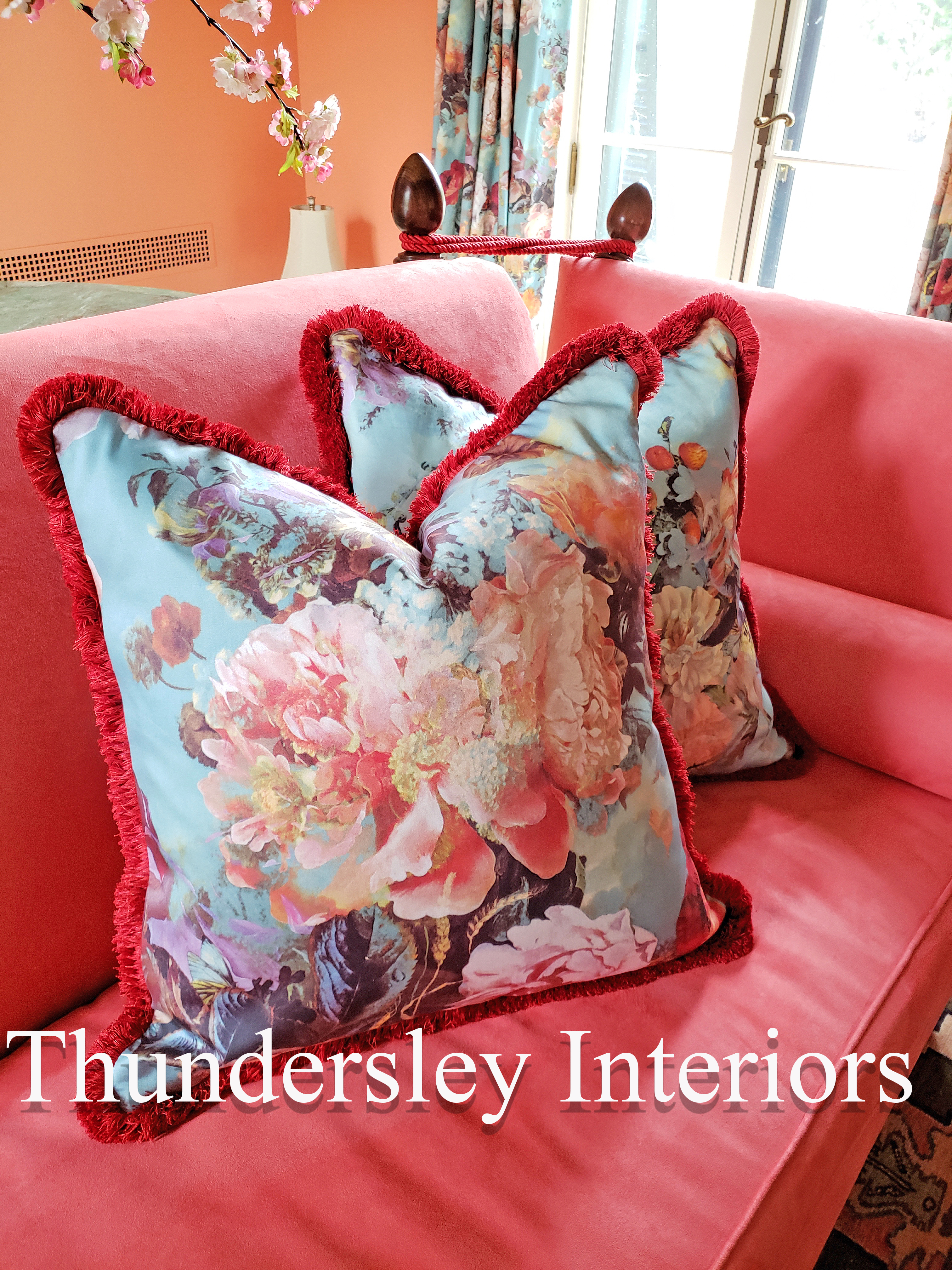 luxury throw pillows in Stamford, CT | Thundersley Interiors