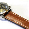 Cognac Genuine Matte Alligator Watch Strap for Breitling | OEMwatchbands.com