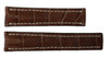 22x18 Mahogany Genuine Matte Alligator Watch Band for Breitling | OEMwatchbands.com