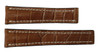 22x18 Cognac Genuine Matte Alligator Watch Band for Breitling | OEMwatchbands.com