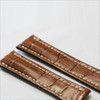 Cognac Genuine Matte Alligator Watch Band for Breitling | Breitlingstraps.com