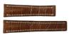 20x18 Cognac Genuine Matte Alligator Watch Band for Breitling | OEMwatchbands.com