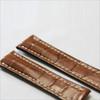 Cognac Genuine Matte Alligator Watch Band for Breitling | Breitlingstraps.com