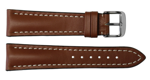 22x18 Cognac Genuine Soft Calf Leather Watch Band for Breitling | OEMwatchbands.com