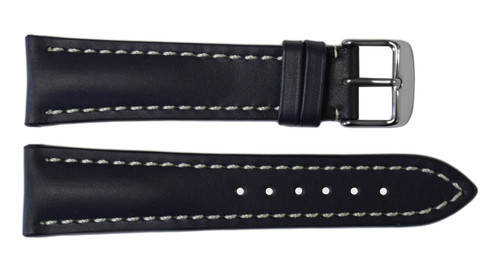 22x18 Navy Genuine Soft Calf Leather Watch Band for Breitling | OEMwatchbands.com