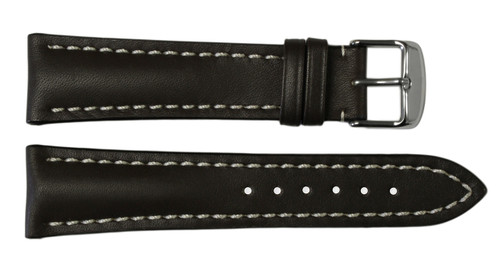 22x18 Mocha Genuine Soft Calf Leather Watch Band for Breitling | OEMwatchbands.com