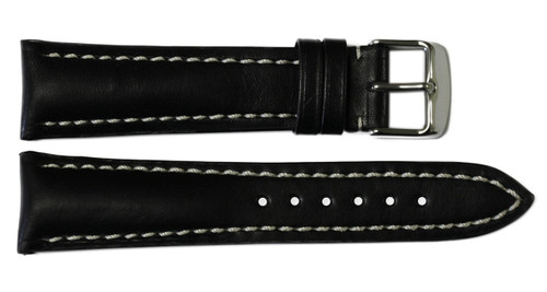 22x20 Black Genuine Soft Calf Leather Watch Band for Breitling | OEMwatchbands.com