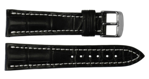 22x18 Black Genuine Matte Alligator Watch Band for Breitling | OEMwatchbands.com