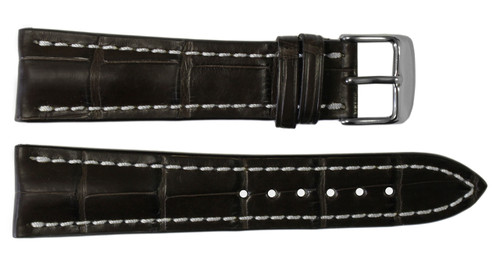 22x18 Mocha Genuine Matte Alligator Watch Band for Breitling | OEMwatchbands.com