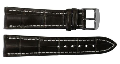 20x18 Mocha Genuine Matte Alligator Watch Band for Breitling   OEMwatchbands.com