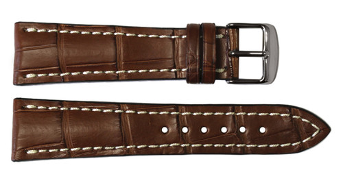 22x20 Mahogany Genuine Matte Alligator Watch Band for Breitling | OEMwatchbands.com