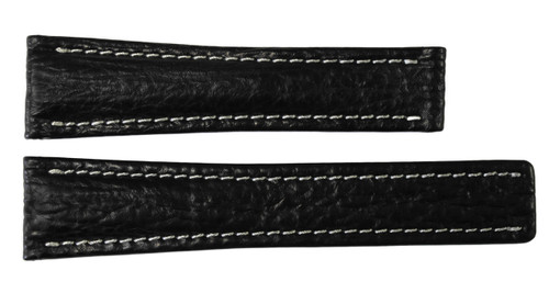 22x18 Black Genuine Shark Skin Watch Band for Breitling | OEMwatchbands.com