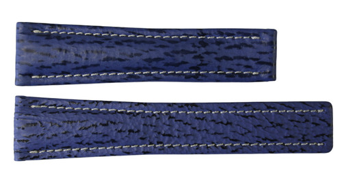 22x18 Royal Blue Genuine Shark Skin Watch Band for Breitling | OEMwatchbands.com