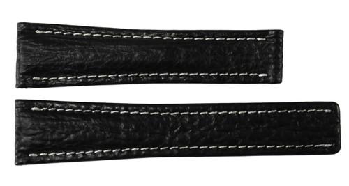 24x20 Black Genuine Shark Skin Watch Band for Breitling | OEMwatchbands.com