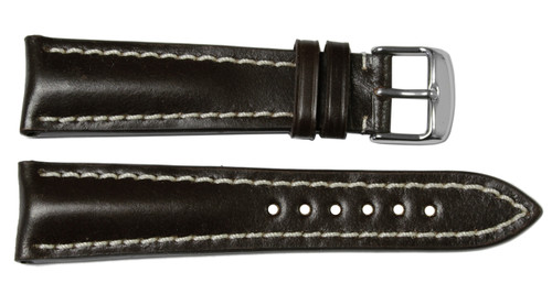 20x18 Mocha Genuine Shell Cordovan Leather Watch Band for Breitling | OEMwatchbands.com