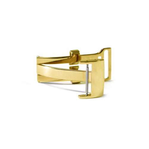 18mm OEM Gold Tone Deploy Clasp for Breitling   OEMwatchbands.com