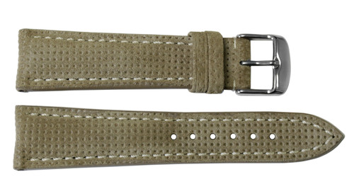 22x18 Khaki Vented Genuine Leather Watch Strap for Breitling (Tang Buckle) | OEMwatchbands.com