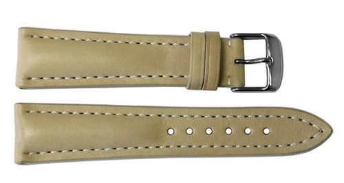22x20 Beige Vintage Leather Watch Strap for Breitling (Tang Buckle) | OEMwatchbands.com