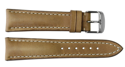 22x18 Sand Vintage Leather Watch Strap for Breitling (Tang Buckle) | OEMwatchbands.com